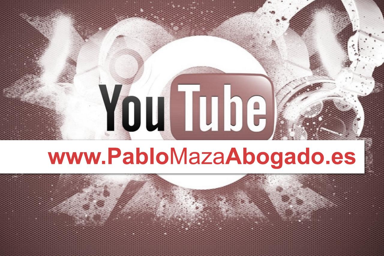 Infracciones de Copyright Propiedad Intelectual en Youtube